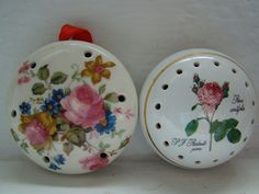 7 x Vintage Ceramic Pomanders Floral Heart M&S Avon Fine Bone China in…