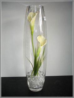 Tall Glass Vases Wedding Centerpieces Gallery - Wedding Decoration ...