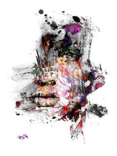 Yossi Orginal Kunst von Angesicht zu Angesicht von yossikotlerart