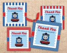 Thomas the Tank Engine inspired Party Favor Tags by ianandlola, $3.00