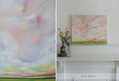 """Peach Dreams"" Oil Landscape Painting by Emily Jeffords"