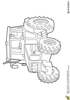 1000 images about coloriages de tracteurs et monster - Dessin anime de tracteur john deere ...