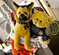 THE MUST HAVE Stocking Stuffers for only $12. Proceeds go to Explorers (bears) and equipment for the K-9 Unit (dogs). Order at (408)730-7140 for pick up in the DPS Lobby at 700 All America Way.  *Note, there is a stuffed K-9 with a vest that has the DPS shield on back and one with the K-9 tag, so make sure to specify which K-9 you would like to order  TO order via email send a message to ltauck@sunnyvale.ca.gov (Leanne Tauck)