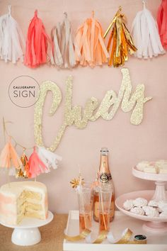 DIY cheers sign: http://www.stylemepretty.com/living/2015/04/24/diy-cheers-sign/ | Photography: Ruth Eileen - http://rutheileenphotography.com/