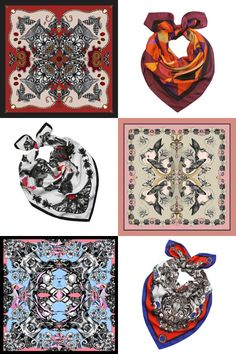 Scarves in stunning graphics of owl, birds, deer by Emily Carter