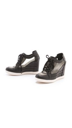 Is it wrong that I like these?   Luxury Rebel Shoes Carlton Wedge Sneakers