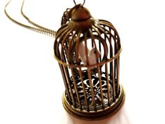Birdcage Necklace option 1 antiquestyle by NOUNOUTheArtisan, $16.00