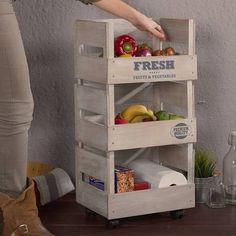 rangement de cuisine fruits et l gumes en pic a 3 tiroirs cuisine et table shopping. Black Bedroom Furniture Sets. Home Design Ideas