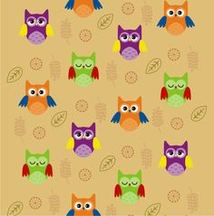 Little Owl S Pattern Designed By Amanda Lima Wallpaper Sewing