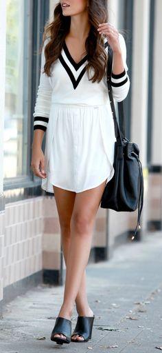 Varsity Charm Ivory Sweater Top