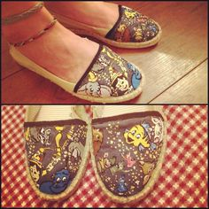 Hand Painted Classic Disney Shoes.. $60.00, via Etsy.