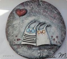 Картина панно рисунок Валентинов день Лепка Подари мне лунный свет Тесто соленое фото 1