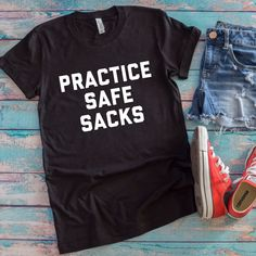 Practice Safe Sacks Unisex T-Shirt - Funny Sister Shirts - Ideas of Funny Sister Shirts - Practice Safe Sacks Unisex T-Shirt Flop The World Pop Funny Football Shirts Gameday Shirt NFL Football Shirt Sunday Football Shirt Funny Football Shirts, Nfl Football, Funny Sports, Independance Day, Game Day Shirts, Spirit Shirts, Custom T Shirt Printing, Sister Shirts