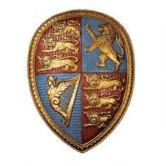 Queen Victoria's Royal Coat of Arms Shield Sculpture