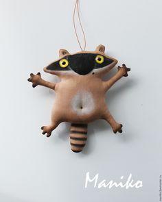 Купить Енотик Кофейная игрушка - коричневый, енот, енотик, кофейная игрушка, крошка енот, кофейный