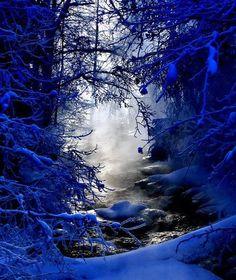 Blue Snow, Finland photo via barbara