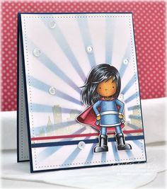 Have a SUPER Day! MFT You're Super, Copic Markers and airbrushing, Spellbinders dies, Details are here: http://debbiedesigns.typepad.com/muse_and_amuse/2015/03/have-a-super-day.html