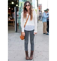 Sidewalk Style: Los Angeles - Layering is still chic when proportions are in check. Make sure the outermost piece hits the waist to prevent it from looking sloppy.