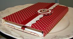 tutorial for recipe card holder box could make own recipe xmas cards like this