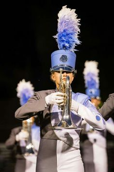 2015 Blue Knights Play Trumpet, Mellophone, Drum Corps International, Winter Guard, Color Guard, Drums, Riding Helmets, Captain Hat, Band