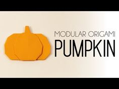 Easy Origami Pumpkin - Halloween Tutorial - Paper Kawaii