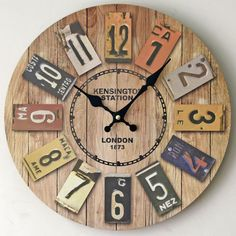 wire spool clock DIY how-to cable spool vintage salvage | CRAFT ...