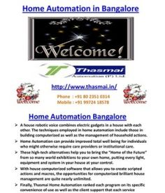 Home Automation in Bangalore
