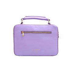 PICADILLY satchel by GRUNENBERGER Paris - Mauve nappa leather