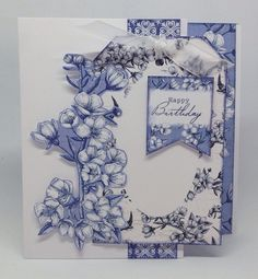 Card created using Toile de Jouy collection, design by Julie Hickey Craftwork Cards, Mothers Day Cards, Paper Cards, Craft Work, Flower Cards, Birthday Cards, Card Making, Gallery Wall, Create