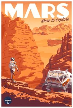 Space Frontier Check Out This Fantastic Poster For The Martian's IMAX Release - Starting yesterday, The Martian is being screened in IMAX theaters across the country. To accompany the release, there's a new poster, and it's a beauty. Kunst Poster, Poster Art, Design Poster, Poster Prints, Flyer Design, Poster Designs, Vector Design, Wall Prints, Arte Sci Fi