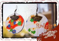 Orecchini Japan ventaglio bianchi, by Radiosa Creazioni, 9,00 € su misshobby.com