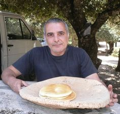 Sardinian shepherd with flat bread (no recipe, just a travel guide to the food of Sardinia, but  I thought that you may like it.).