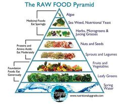 Raw Food Pyramid for all our raw vegan friends!  How much raw food do you eat? Have any favorite recipes you can share with us?