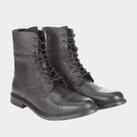 Black Leather Military Boots. Was £58.00   Now £15.00 – http://tidd.ly/9c97b7fa