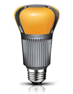 Phillips EnduraLED: An LED which has a yellow phosphor coating to produce a warm glow and produces as much light as a 60watt incandescent with only 12 watts.