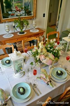 A Tablescape for Easter  Cottage at the Crossroads