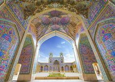 A spectacular view of Nasir-ol-Molk #Mosque (Pink Mosque), Shiraz, Iran