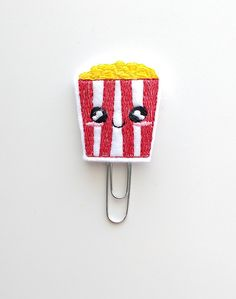 Popcorn Felt Paperclip | Bookmark | Paper Clip | Planner Accessories | Feltie | Planner Clip | Kawaii Planner Clips | Movie Night
