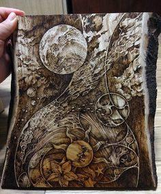 Latvia pyrography | pyrography(wood burning) on zelkova