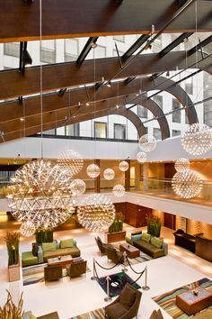 Hilton the Hague, The Netherlands, designed by Design Electro Products. Products: Moooi - Raimond