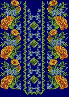 Embroidery Patterns Free, Loom Patterns, Beaded Embroidery, Cross Stitch Patterns, Magic Hands, Folk Fashion, Stitch 2, Embroidery Techniques, Loom Beading