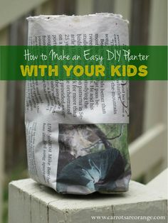 Garden Camp {Make a Easy DIY Planter for You and Your Kids}