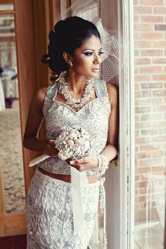white indian wedding outfit