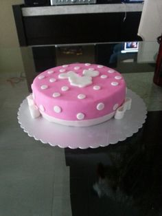 Pastel de Minnie Mouse Rosa