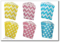 Gelato candy bags { lolly bags}, from candy soirees partyware