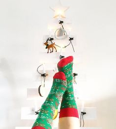Put your festive feet up in the air!  @lifewithpris #HappySocks #HappinessEverywhere #HappyHolidays #Festive