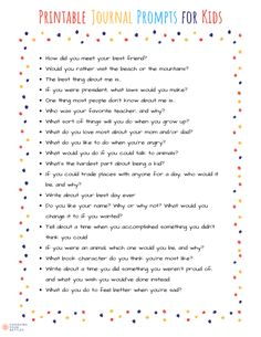 34 Printable Journal Writing Prompts for Kids writing prompts journal Journal Prompts For Kids, Journal Topics, Journal Writing Prompts, Writing Topics, Writing Prompts For Kids, Kids Writing, 3rd Grade Writing Prompts, Dialogue Writing, Writing Ideas