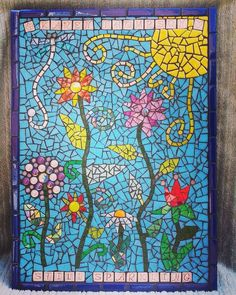 Remembering a special lady with a colourful mosaic