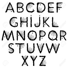 8 Best Images of Spooky Printable Halloween Letters - Scary Alphabet Letters Templates, Spooky Halloween Alphabet Letters and Black and White Halloween Spooky Letters Halloween Letters, Halloween Fonts, Spooky Halloween, Handwriting Alphabet, Hand Lettering Alphabet, Cool Fonts Alphabet, Alphabet Letters, Creative Lettering, Lettering Styles