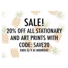 Today Only! // Take an Additional 20% off Everything on My Etsy Shop! // Link in Bio!